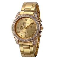 Часы женские наручные кварцевые GENEVA с камушками, на браслете