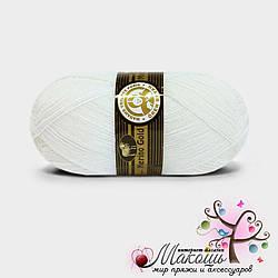 Зимняя пряжа Madame Tricote Paris Мерино голд, №100, белый