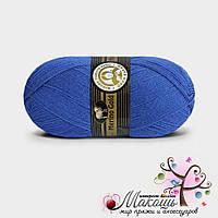 Зимняя пряжа Madame Tricote Paris Мерино голд, №016, синий электрик
