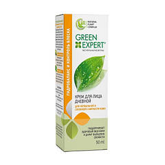 Крем для лица дневной для нормальной и склонной к жирности кожи Green Expert 50 мл