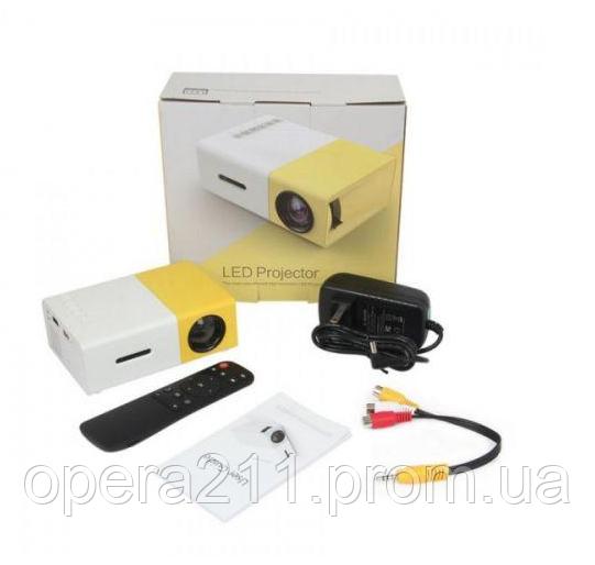 Портативный мини проектор LED YG-300 (AS SEEN ON TV)