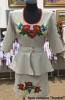 Женское вышитое платье