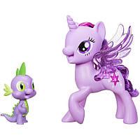 Принцесса Твайлайт и Спайк поющий дуэт (My Little Pony Princess Twilight Sparkle Spike the Dragon), hasbro