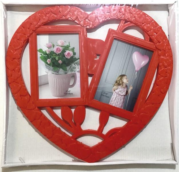 Рамка коллаж на 2 фото Сердце,  (L081)