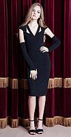 Платье Nova Line-5765 белорусский трикотаж, черный, 42