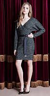 Платье Nova Line-5773 белорусский трикотаж, серый, 42