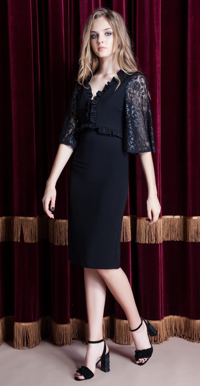 Платье Nova Line-5827 белорусский трикотаж, черный, 42