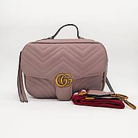 Сумка копия Gucci marmont светло-розовая, фото 1