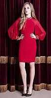Платье Nova Line-5828 белорусский трикотаж, красный, 42