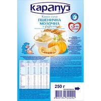 Каша молочна пшеничная с тыквой, бифидобактериями, минералами, витаминами  5 мес Карапуз  250г