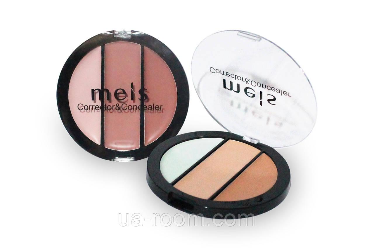 Палитра консилеров-корректоров 3 цв. Meis professional make-up artist MS0304-C