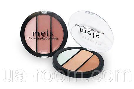 Палитра консилеров-корректоров 3 цв. Meis professional make-up artist MS0304-C, фото 2