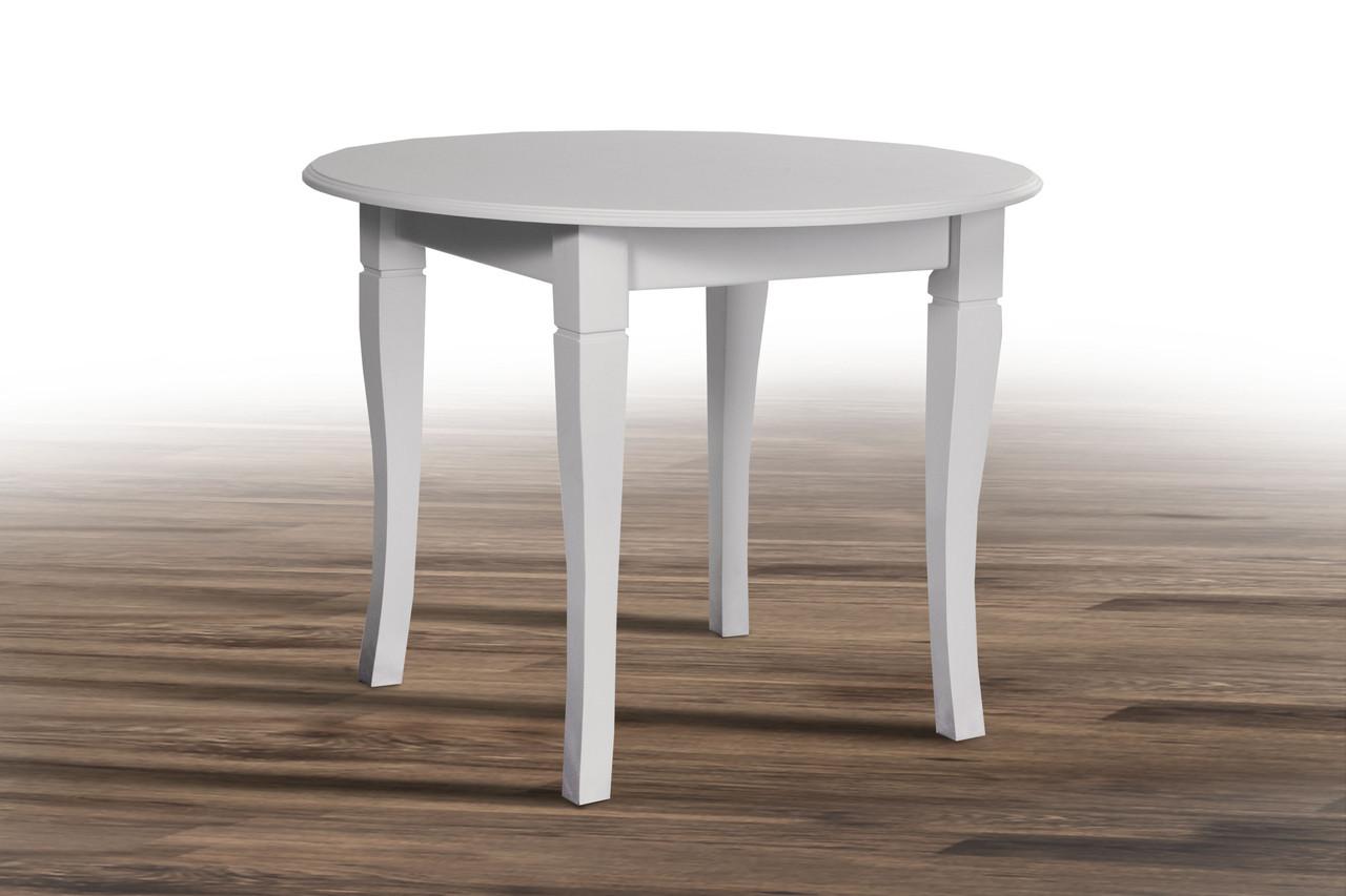 Круглый обеденный стол ОСТИН белый матовый