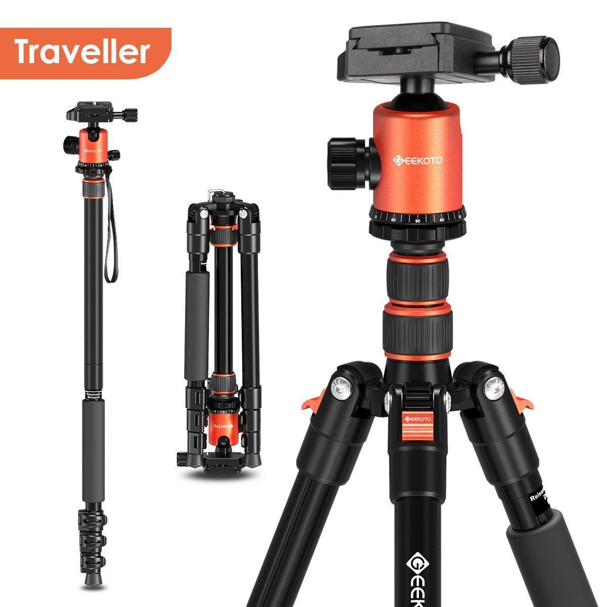 Штатив трипод Geekoto для фотоаппарата профессиональный алюминиевый