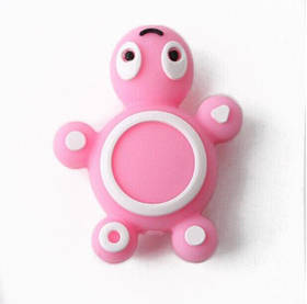 Черепашка (розовая) силиконовая бусина