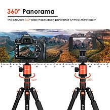 Штатив трипод Geekoto для фотоаппарата профессиональный алюминиевый, фото 3