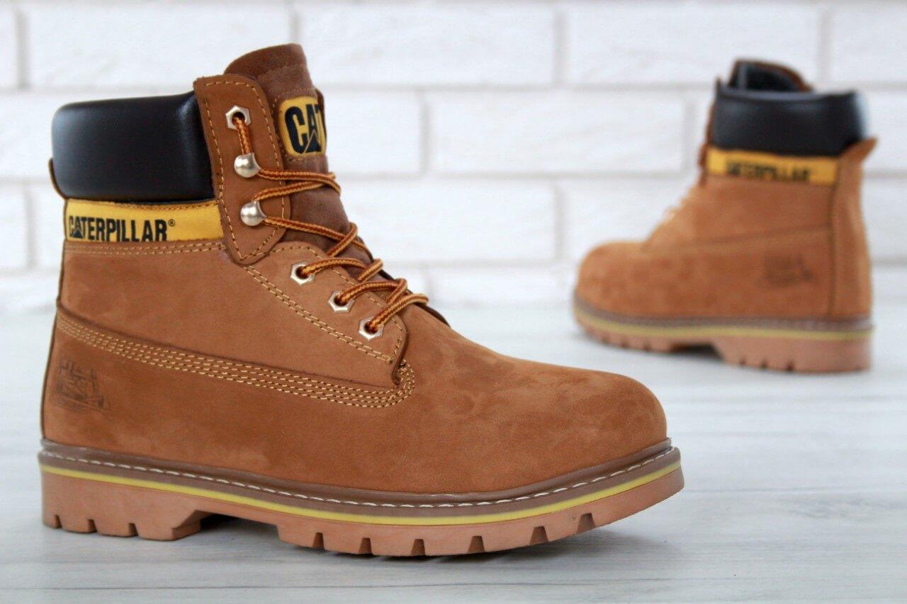 Ботинки с мехом Caterpillar Winter Boots Classic Yellow купить в ... 9935aa7e640