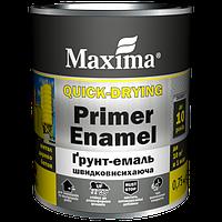 """Грунт-емаль быстросохнущая TM """"Maxima"""" белый - 0,75 кг."""