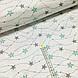 Ткань польская хлопковая, гирлянда из серо-мятных звезд на белом, фото 2