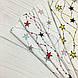 Ткань польская хлопковая, гирлянда из серо-мятных звезд на белом, фото 5