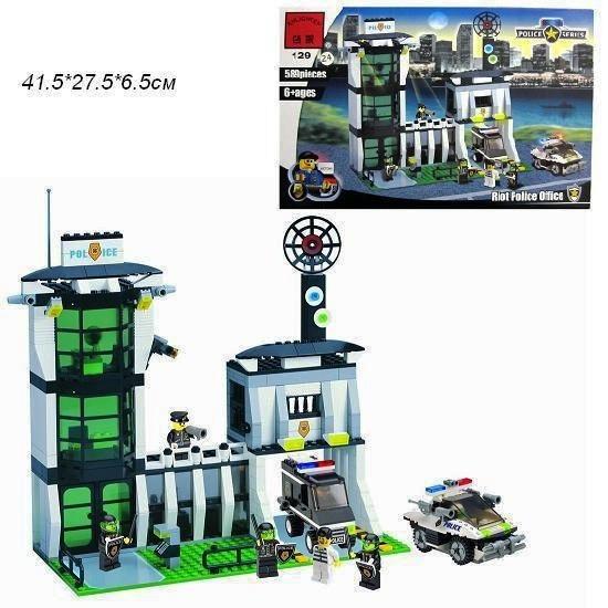 Конструктор Brick Enlighten 129 Полицейский участок 589 деталей