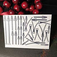 Слайдер дизайн dream nails водные наклейки для ногтей черные