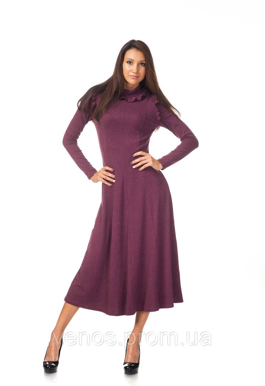 Женское длинное платье клиньями. П_126