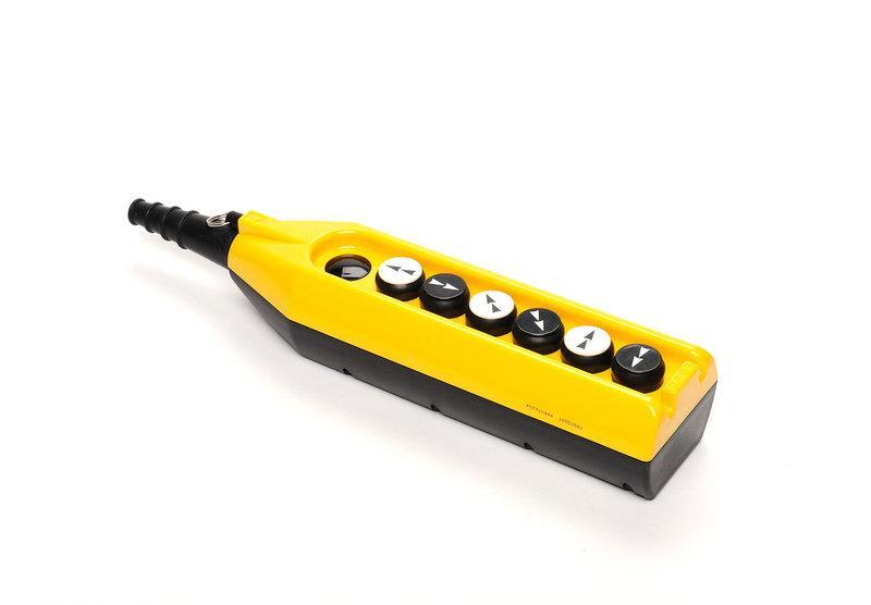 Крановый пульт управления 6-кнопочный, 1 скорость (жёлто-чёрный) PV7T1222 ЭМАС