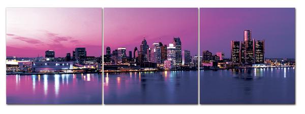 "Картина на стекле ""Нью-Йорк. Вид с моря"""