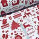 Ткань хлопковая новогодняя, красная Рождественская история на белом, фото 2