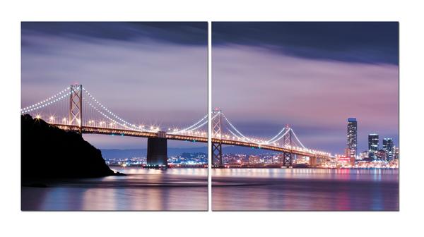 """Картина на стекле """"Мост в Окленд"""""""