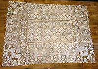 Вязаная скатерть из кружева 150x220