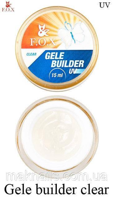 Гель-желе F.O.X прозрачный (Gele Builder Gel Clear) 15 мл