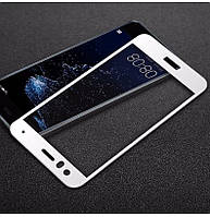 Защитное стекло Huawei P10 Lite Full cover белый 0,26мм в упаковке