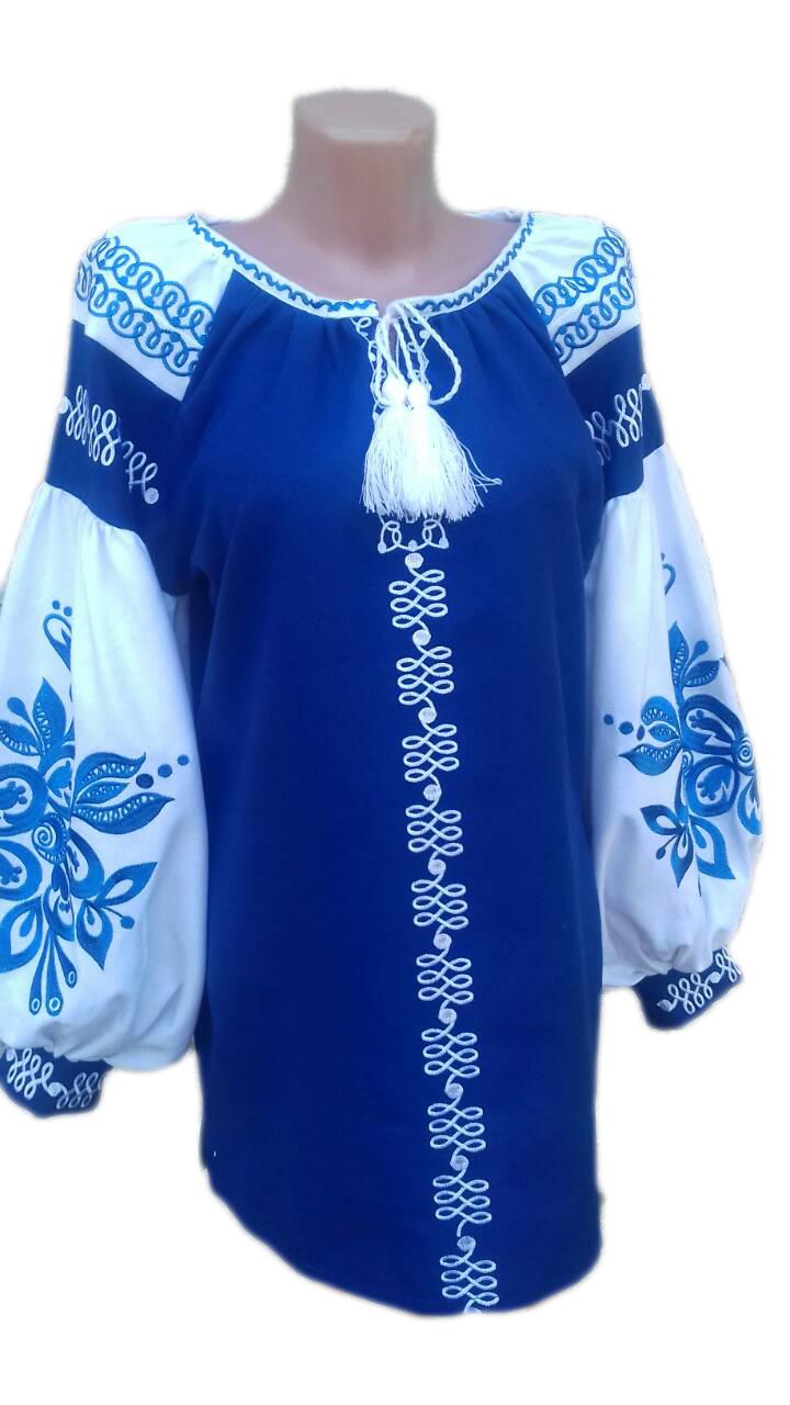"Жіноча вишита сорочка (блузка) ""Дженна"" (Женская вышитая рубашка (блузка) ""Дженна"") BT-0046"