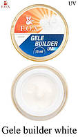 Гель-желе F.O.X белый (Gele Builder Gel White) 15 мл