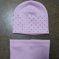Комплект зимний шапка и снуд для девочек 2-5 лет.