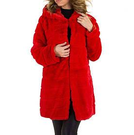 Плюшевая шуба с капюшоном Holala Gr.(Европа) - Красный