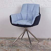 Palma (Пальма) кресло поворотное текстиль сине-голубой