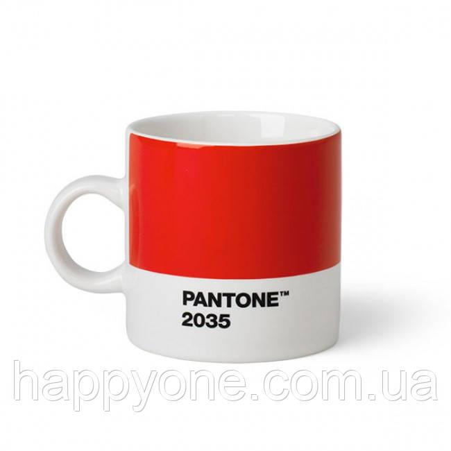 Чашка эспрессо PANTONE Living Red 2035 (120 мл)
