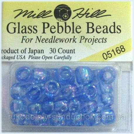05168 бисер Mill Hill, 3/0 Sapphire Pebble Glass Beads