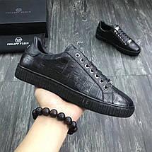 Мужские кроссовки PHILIPP PLEIN,черны кожаные , фото 3