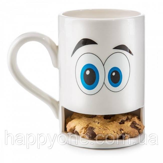 Чашка з відділенням для печива Cookie Monster Cup Donkey (біла)