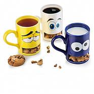 Чашка з відділенням для печива Cookie Monster Cup Donkey (біла), фото 2