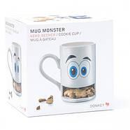 Чашка з відділенням для печива Cookie Monster Cup Donkey (біла), фото 3