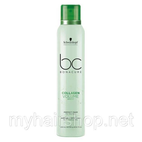 Пена-мусс для объёма SCHWARZKOPF BC Collagen Volume Boost Perfect Foam 200 мл