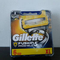 Кассеты Gillette Fusion 5 Proshield 6 шт. ( Картриджи жиллетт Фюжин 5 прошилд желтые Оригинал Германия )