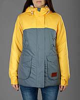 Женская зимняя/куртка парка Olymp желтая с серым реплика