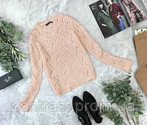 Нежный свитер в нюдовом цвете 8/36/XS  SH1843021