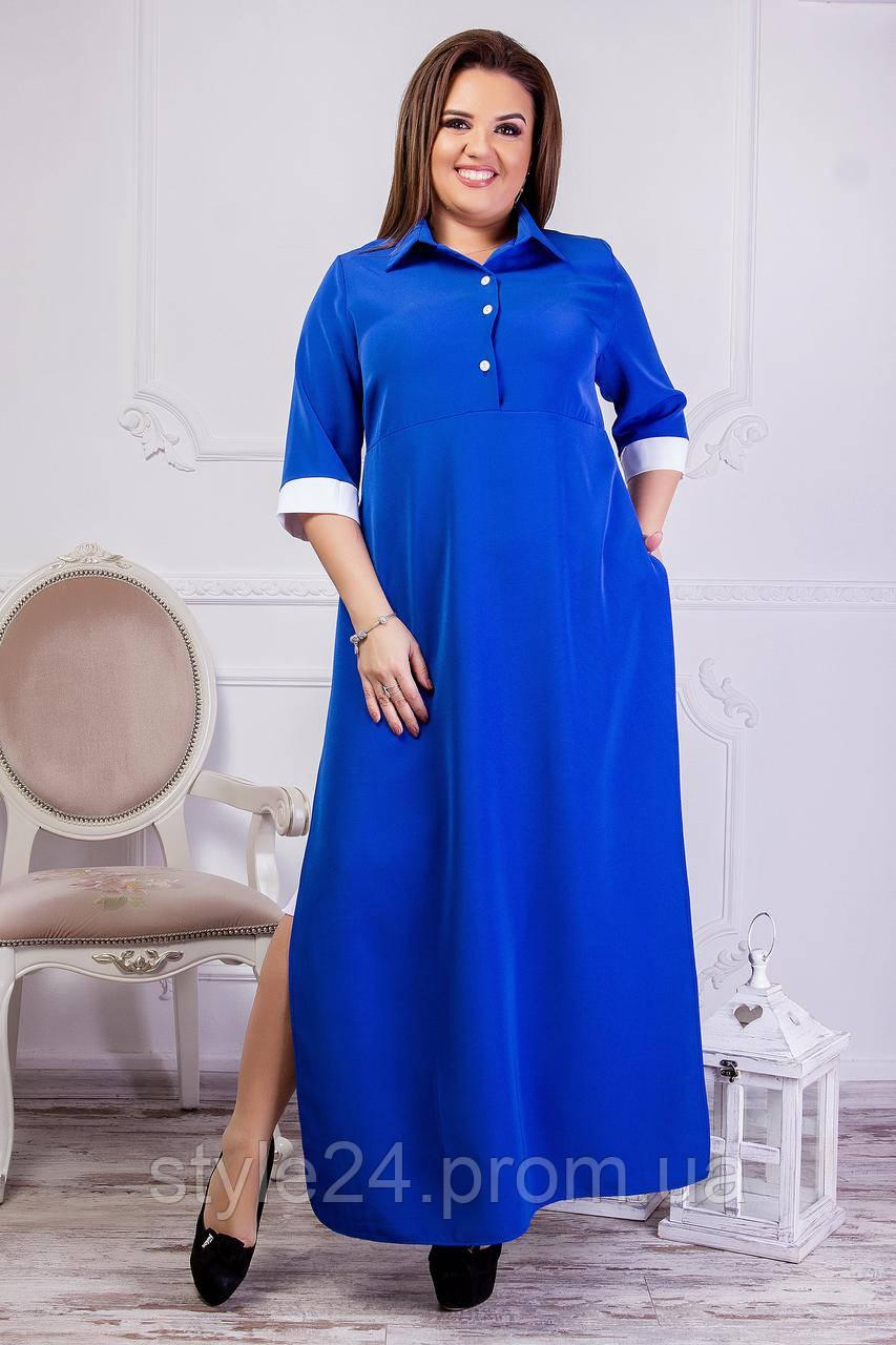 ЖІноче довге плаття на гудзики з розрізами по боках.Р-ри 42-60 ... 5193611bc4691
